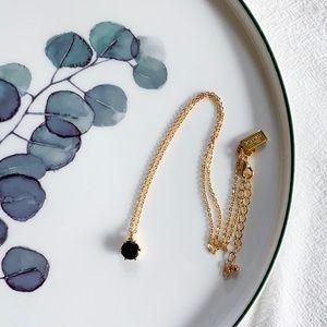 Kate Spade Stone Pendant Necklace - Black